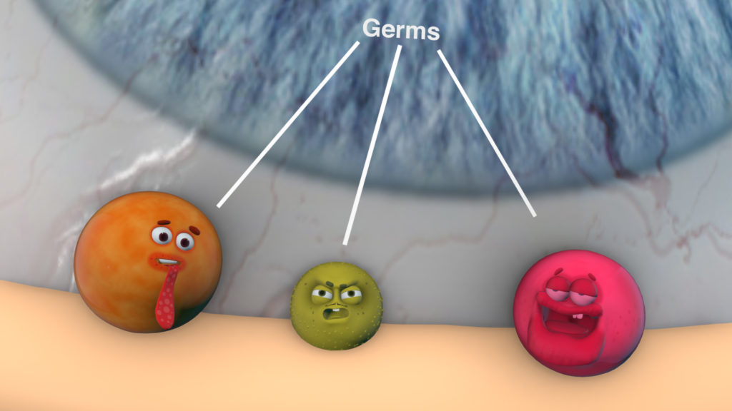 Germs Trying to Get Into Our Eyes